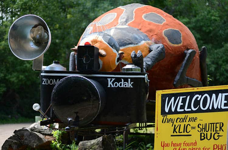Kodak with giant Bug