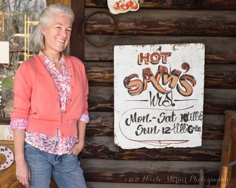 Kathy at Hot Sams